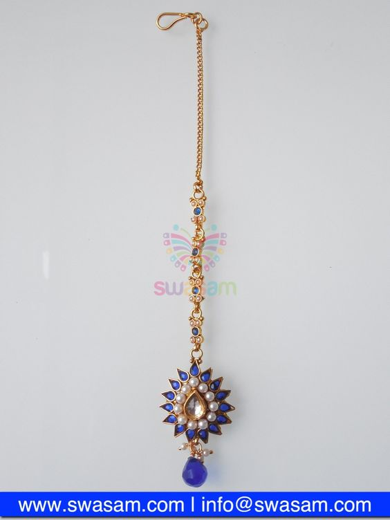 Indian Jewelry Store | Swasam.com: Tikka with Perls and White Stones - Tikka - Jewelry Shop to Buy The Best Indian Jewelry  http://www.swasam.com/jewelry/tikka/tikka-with-perls-and-white-stones-1465.html?___SID=U  #indianjewelry #indian #jewelry #tikka