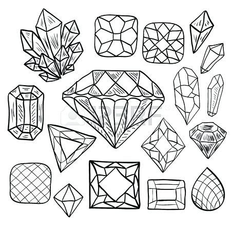 Image Result For Gemstone Coloring Books How To Draw Hands Crystal Drawing Shape Coloring Pages