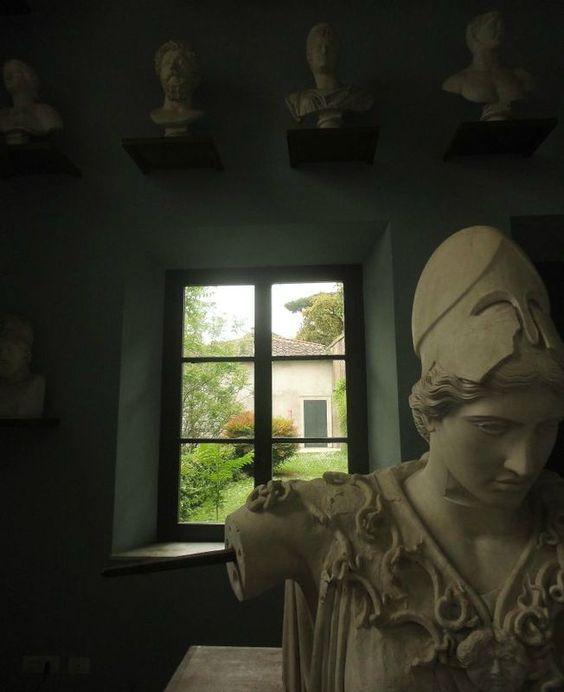 Villa Médicis -vue de la fenêtre de la Gypsothèque