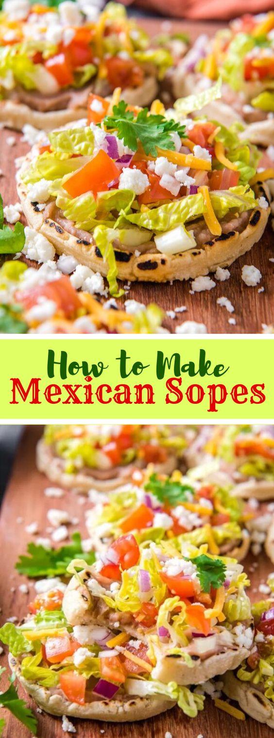 MEXICAN SOPES RECIPE #vegetarian #glutenfree