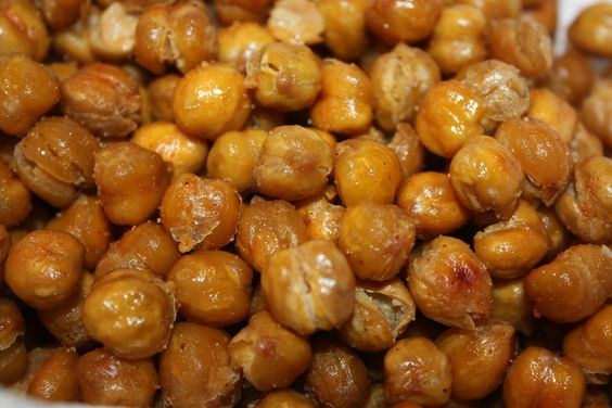 Roasted Garbanzo Beans - got the idea from http://steamykitchen.com/10725-crispy-roasted-chickpeas-garbanzo-beans.html  Roasted mine at a lower temp - between 325 and 350  Yummy with Lawry's seasoned salt.