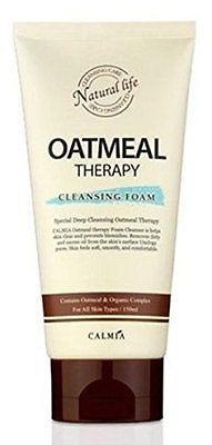 Korean Natural Oatmeal Therapy Deep Cleansing Foam, Unclog Pores, Remove Dirt...