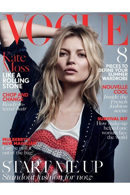 Kate Moss by Craig McDean for Vogue UK May 2016 cover: