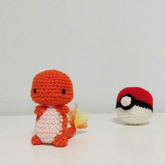 ➡ Patrón pokeball: Ribbel Monster (5 cm) https://ribbelmonster.de ...