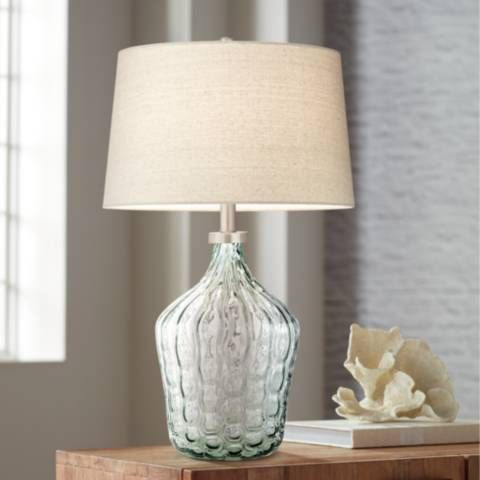 Seagrass Clear Green Art Glass Table Lamp 60m73 Lamps Plus Art Glass Table Lamp Glass Table Table Lamp