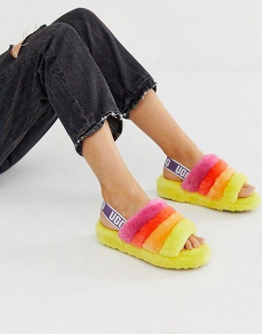 UGG Pride Fluff Yeah slipper slides in