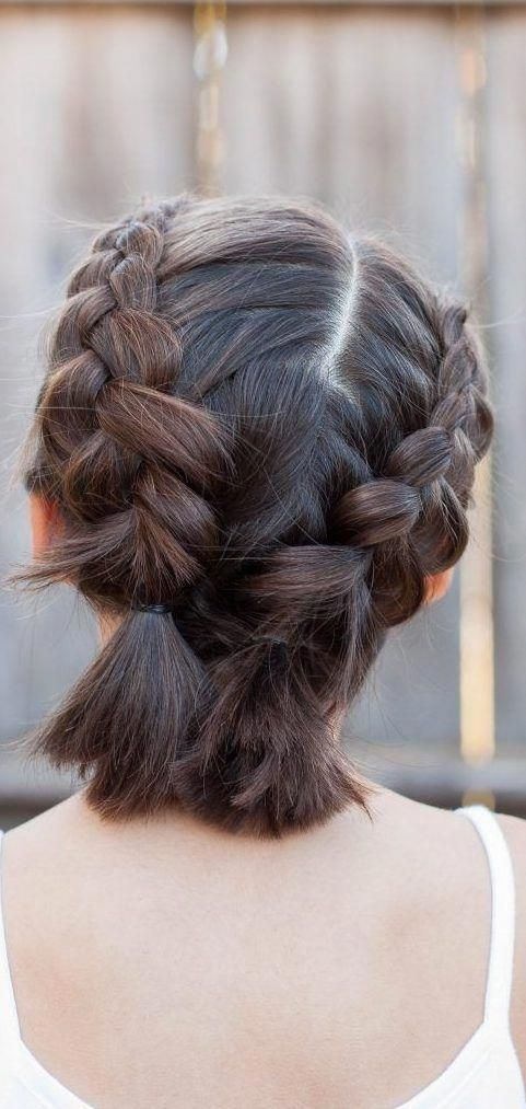 28 Braided Pigtail Braids For Short Hair You Will Love For 2019 Short Hair Models Braidedponytail Short Hair Model Braids For Short Hair Short Hair Styles