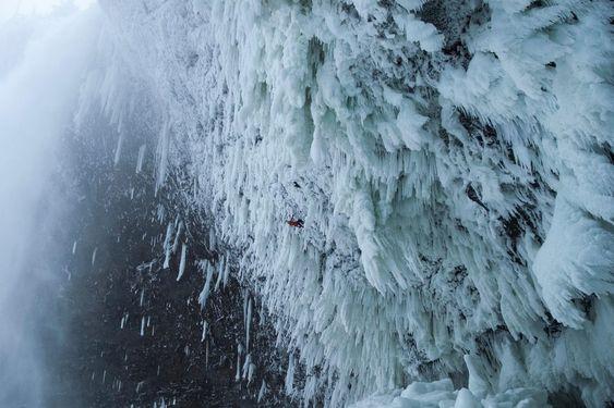 schwierigste kletterroute der welt im Eis