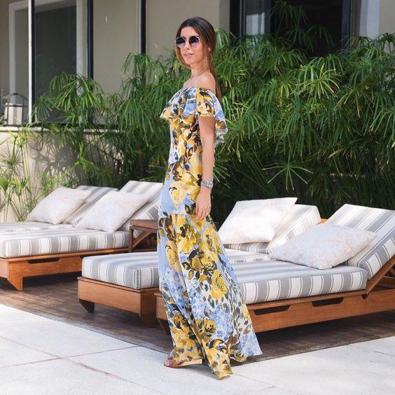 Vestido longo floral bem lindo e a cara do verão!: