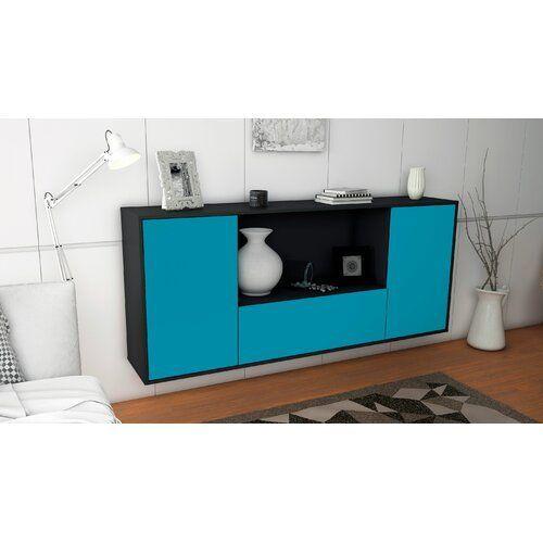 Sideboard Gallatin Ebern Designs Farbe Korpus Front Anthrazit