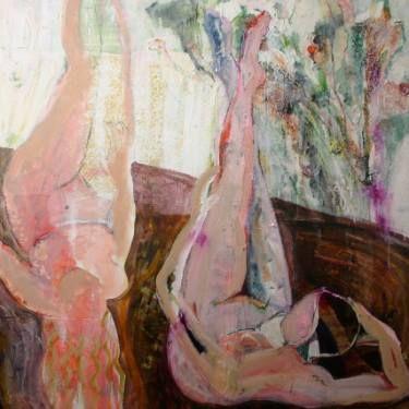 """Saatchi Art Artist Jacqueline van der Plaat; Painting, """"Upside Down"""" #art"""