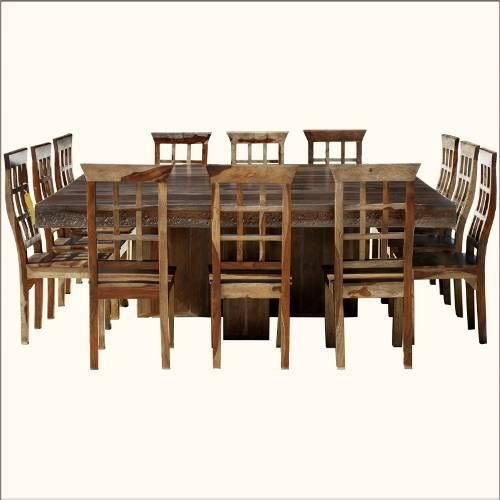 Square dining table for 12 dislike chairs but like idea for Dining room tables that seat 12
