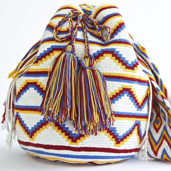 AUTHENTIC HANDMADE WAYUU MOCHILA BAGS | WOVEN BY THE INDIGENOUS WAYUU TRIBE OF SOUTH AMERICA 100% COTTON. www.wayuutribe.com $325.00 #BeachBag #Desertstlyle #wayuutribe #surf #shoulderbag:
