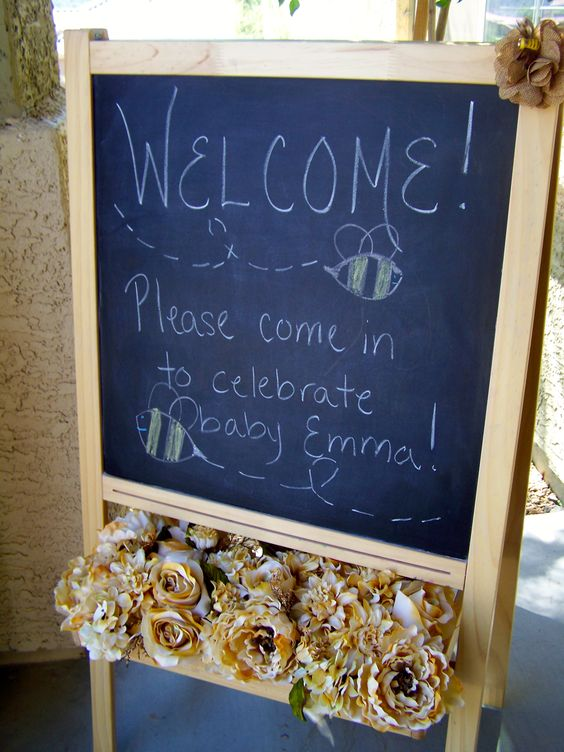 Welcome sign for baby shower
