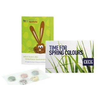 Fröhliche Ostern! Mit der Colour-Card senden Sie Ihren Kunden nicht nur bunte Grüße, sondern liefern gleich ein Briefchen mit fünf Farbtabletten zum Eierfärben mit.  Selbstverständlich bedrucken wir die Karte ganz nach Ihren Wünschen. http://www.werbeartikel-discount.com/product_info.php/products_id/53026