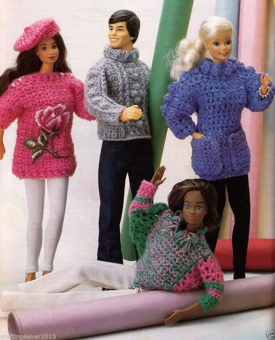 Free Knitting Patterns For Barbie And Ken Dolls : Pinterest   The world s catalog of ideas