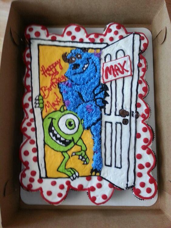 Monster inc cupcake cake: