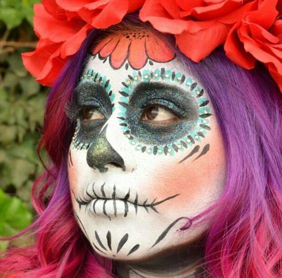 Dia De Los Muertos Makeup Inspiration - #DiaDeLosMuertos #DayOfTheDead #SugarSkull #MexicanTradition #Halloween