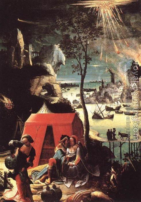 Lucas Van Leyden : Lot and his Daughters