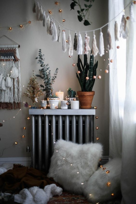 cozy bohemian holiday decorations with Urban Outfitters home: