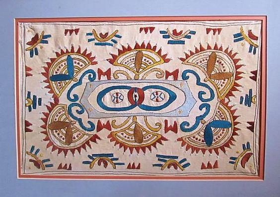 A Greek Woman created this design as either a girl or a young woman some 90 to 100 years ago. Silk thread on linen - more than likely Sparta, Greece