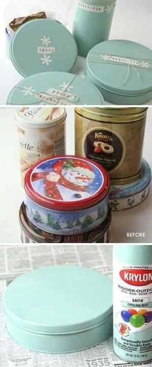 Painting tins
