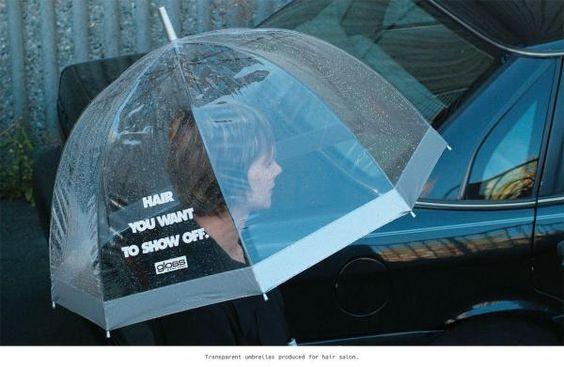 Un paraguas para los que están orgullosos de su cabello.