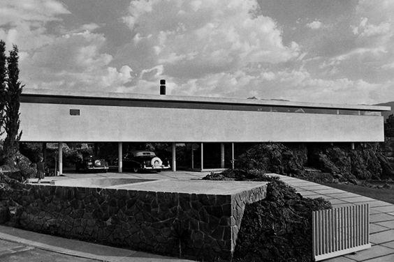 Casa Cerro Risco 1957  Col. Pedregal de San Ángel. México D.F.  Arq. Francisco Artigas