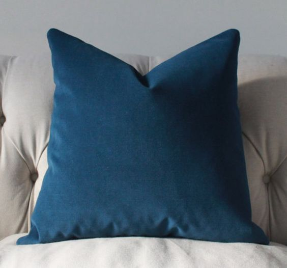 Blue Velvet Throw Pillows : Dark Blue Pillow Cover French Blue Velvet Pillow by MotifPillows, $42.00 CF Pinterest Dark ...