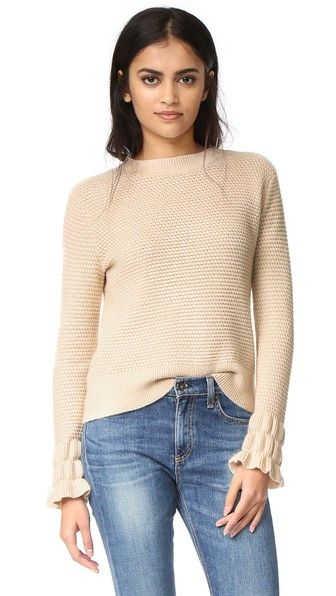 CLUB MONACO Darja Sleeve Interest Sweater. #clubmonaco #cloth #dress #top #shirt #sweater #skirt #beachwear #activewear
