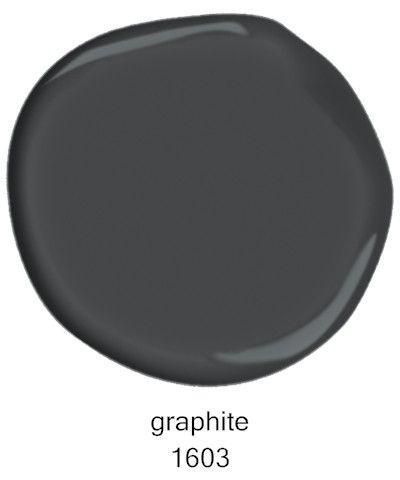 #BenjaminMoore Graphite 1603. #benjaminmoore #graphite #benjaminmooregraphite #darkgreypaint