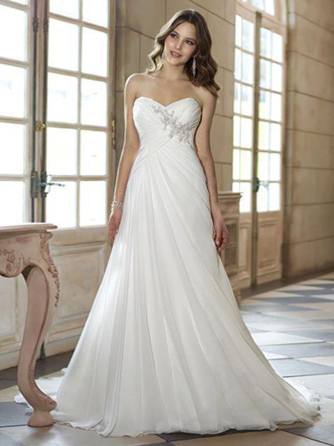 Eileen-Vestido de Noiva em tecido de seda - dresseshop.pt