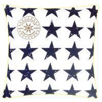 Maritime Kissenhülle mit Sternmotiven
