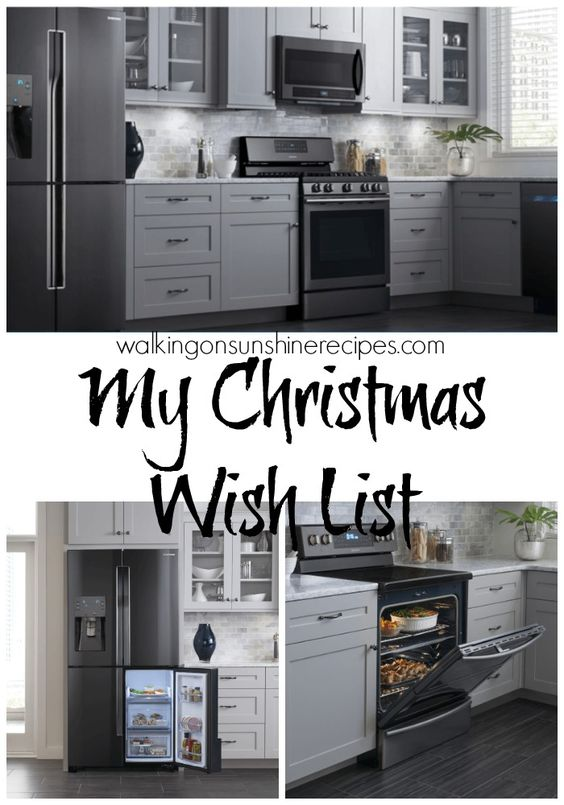 kitchen appliances wish list and black stainless steel on