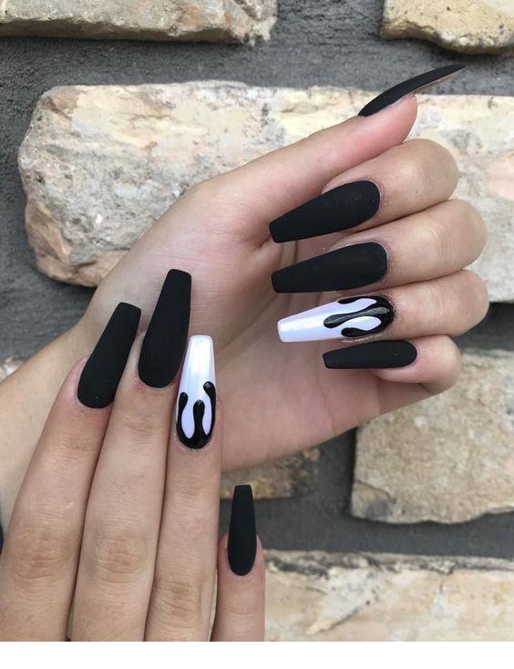 Long gel nail art
