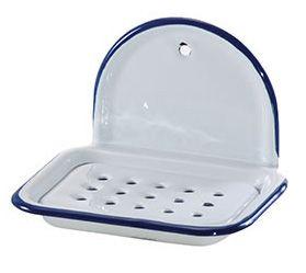 Wall-mounted Enamel Soap Dish
