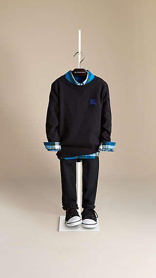 Raw Edge Cotton Sweater