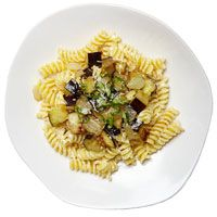 Pasta with Eggplant, Sweet Onion, and Ricotta (via Parents.com)