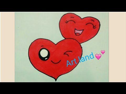 رسم قلبين كيوت رسم قلبين لعيد الحب رسم قلب Cute Heart Drawing Cute Two Hearts Drawing Youtube Easy Drawings Cute Heart Drawings Heart Drawing