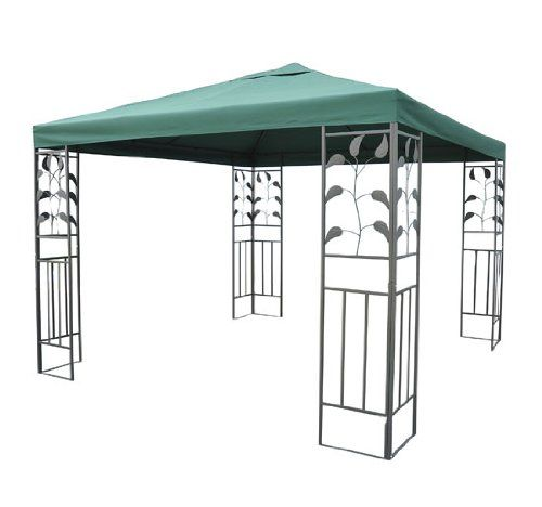 Outsunny 10 X 10 Steel Gazebo Frame Leaf Design Visit The Image Link More Details This Is An Affiliat Gazebo Replacement Canopy Gazebo Replacement Canopy