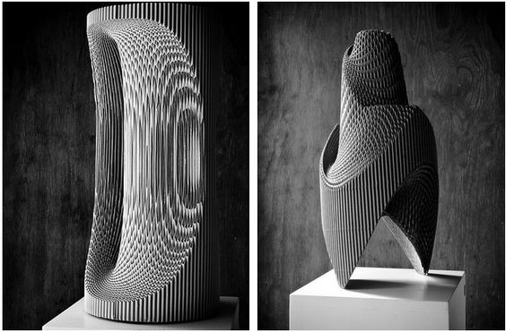 'Nurbs' is a series of cardboard sculptures, made by artist Mauro Rubio