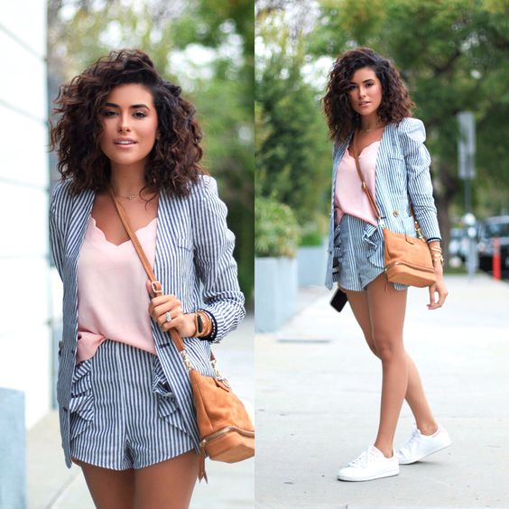 Sporty chic! Blazer shorts two piece set | shop on the blog