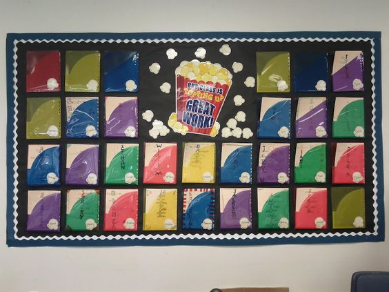 clear folders for bulletin board display -- no need to take stuff down to put up new stuff!!