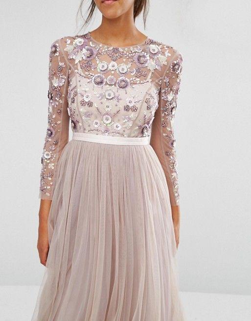 Needle & Thread   Needle & Thread Tulle Floral Gown