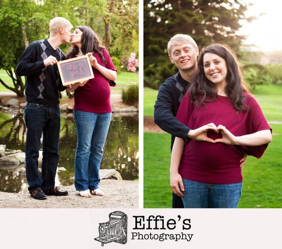 Maternity photos in the park