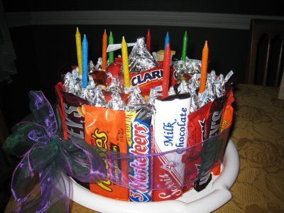 birthday cakes made out of candy