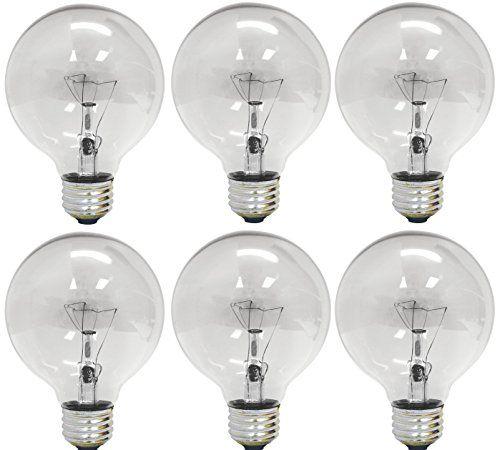 Ustellar 6 Pack 5w G25 E26 Led Bulbs
