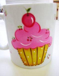 Caneca Decorada com Cupcake