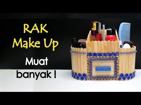 Rak Make Up Cantik Dari Stik Es Krim Muat Banyak Kreasi Stik Es Krim Youtube Es Krim Krim Kerajinan Karung Goni
