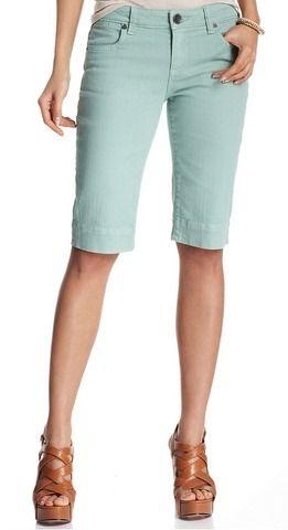 Best Knee-length Shorts: Macy's Skinny Bermuda Short in Mint